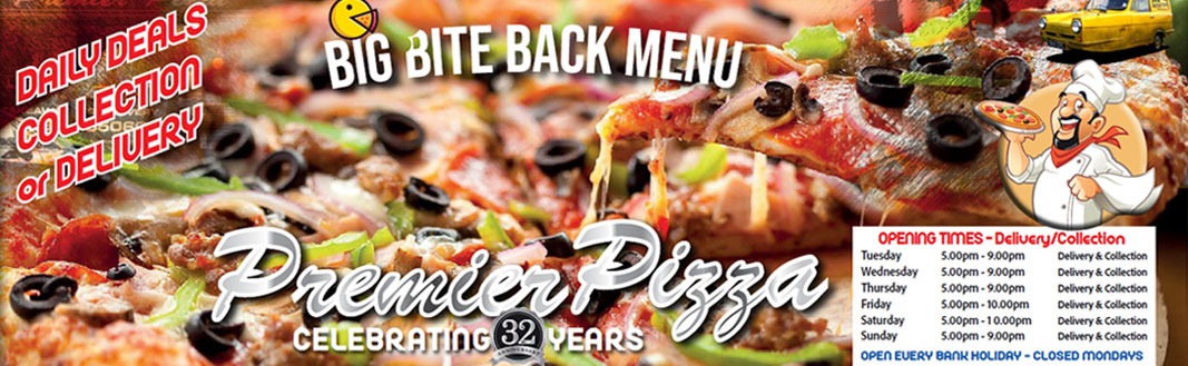 Premier Pizza Whittlesey Menu